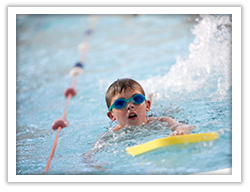 Swimming lessons with Active Swansea